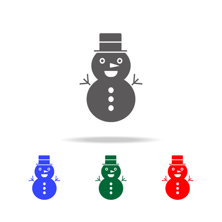 icon of snowman. Elements in multi colored icons for mobile concept and web apps. Icons for website design and development, app development on white background