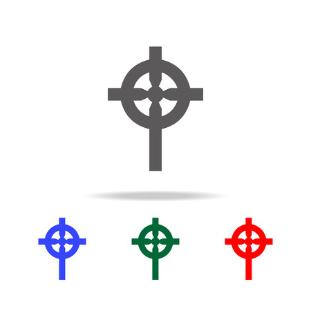 Religion Cross Icon. Elements in multi colored icons for mobile concept and web apps. Icons for website design and development, app development on white background