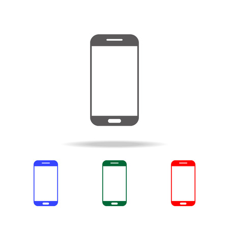 smartphone icon. Elements in multi colored icons for mobile concept and web apps. Icons for website design and development, app development on white background