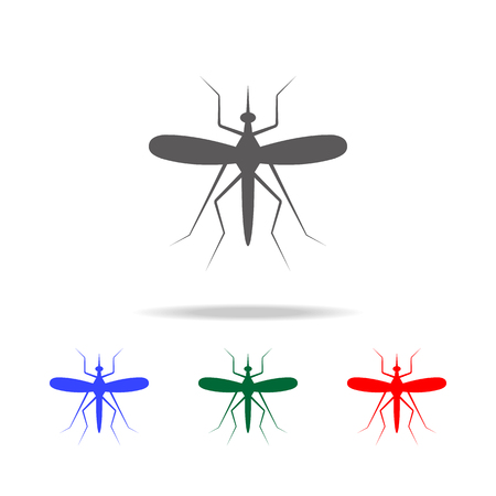 Mosquito icon. Elements in multi colored icons for mobile concept and web apps. Icons for website design and development, app development on white background Illusztráció