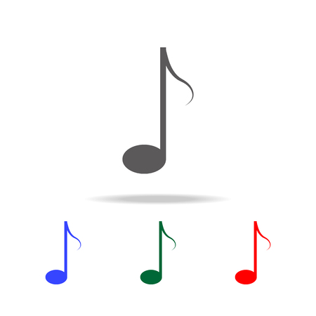 Music note Icon. Elements in multi colored icons for mobile concept and web apps. Icons for website design and development, app development on white background Illustration