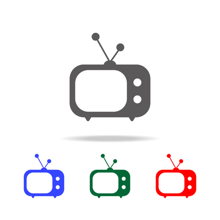 Old Tv Icon. Elements in multi colored icons for mobile concept and web apps. Icons for website design and development, app development on white background. Illustration