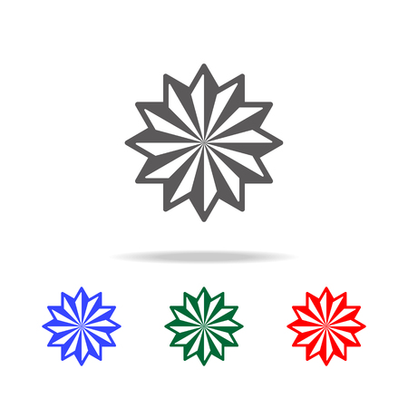 Star twelve icon. Elements in multi colored icons for mobile concept and web apps. Icons for website design and development, app development on white background. Illustration