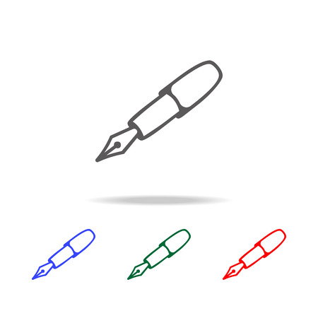 Ink Pen icon. Elements in multi colored icons for mobile concept and web apps. Icons for website design and development, app development on white background
