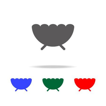 Sugar bowl icon set Illustration