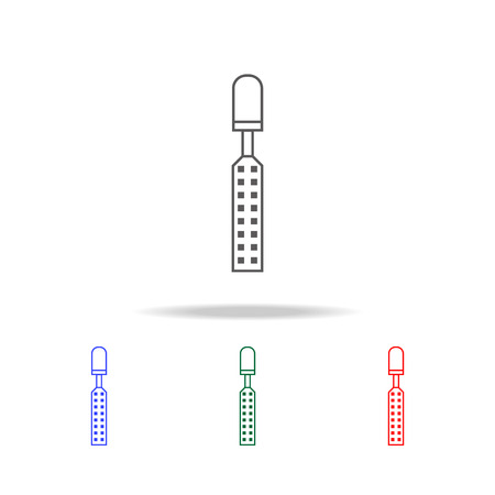 Chisel line icon vector illustration set 向量圖像