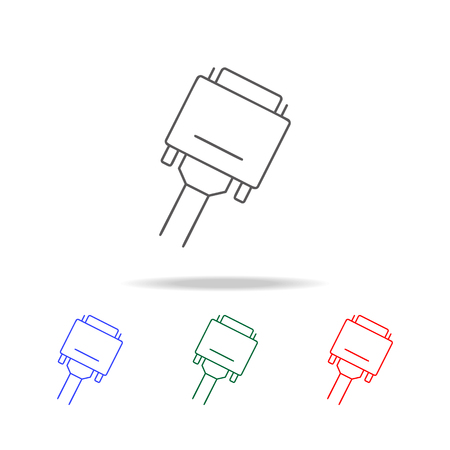 VGA icon set vector illustration Çizim