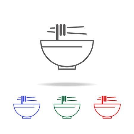 Noodle soup line icon set Stock Vector - 96137485