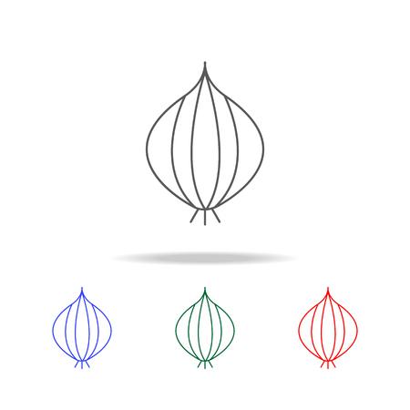 Onion line icon set