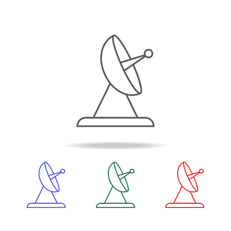 Satellite Dish line Icon set Illustration