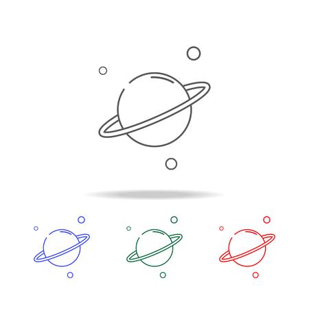 Saturn planet line icon set Stock Vector - 96205909