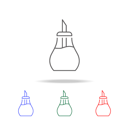 Syrup line icon set Illustration