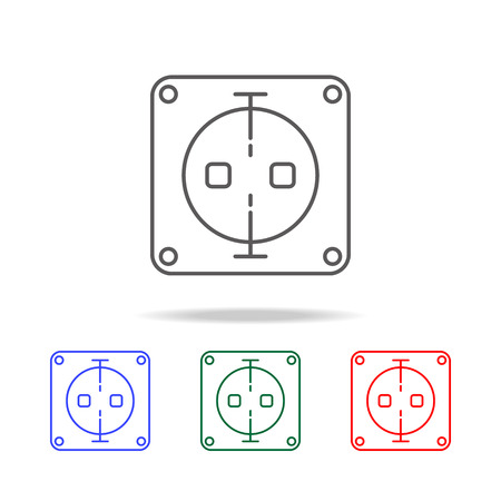 Electric outlet icon set