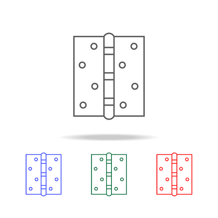 Door hinge icon set Vectores