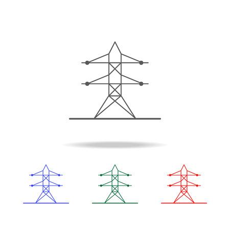 High-voltage tower icon set