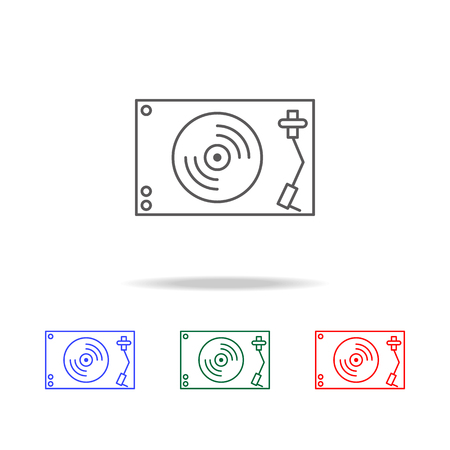 vanilla player icon. Elements in multi colored icons for mobile concept and web apps. Icons for website design and development, app development on white background