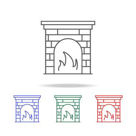 fireplace icon. Elements in multi colored icons for mobile concept and web apps. Icons for website design and development, app development on white background Vettoriali