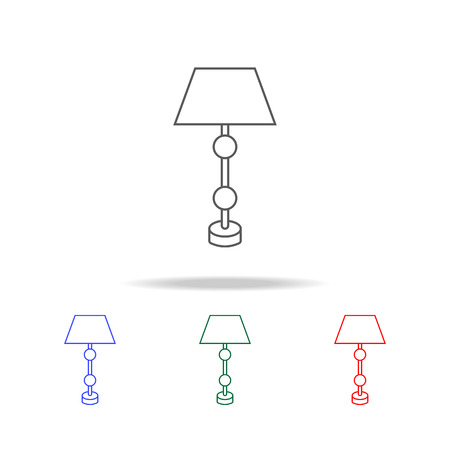 table lamp icon. Elements in multi colored icons for mobile concept and web apps. Icons for website design and development, app development on white background Illustration