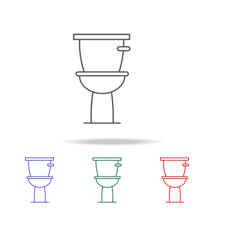 Toilet icon. Elements in multi colored icons for mobile concept and web apps. Icons for website design and development, app development on white background