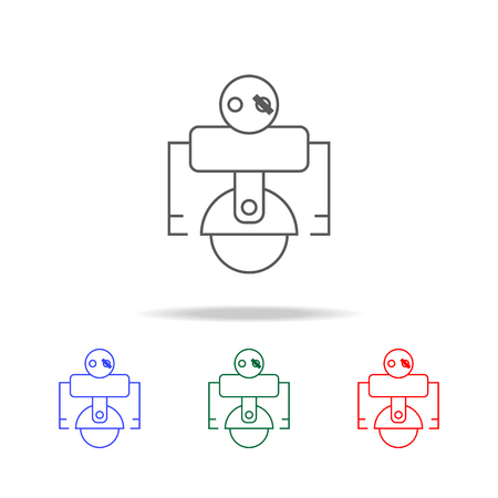 robot pirate icon. Elements in multi colored icons for mobile concept and web apps. Icons for website design and development, app development on white background Illustration