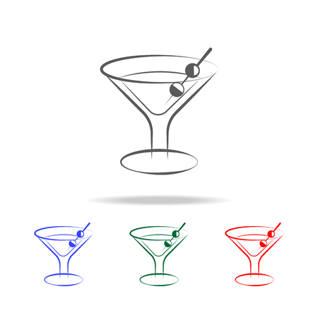 martini glass icon. Elements in multi colored icons for mobile concept and web apps. Icons for website design and development, app development on white background