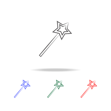 asterisk icon. Elements in multi colored icons for mobile concept and web apps. Icons for website design and development, app development on white background Banco de Imagens - 96038071
