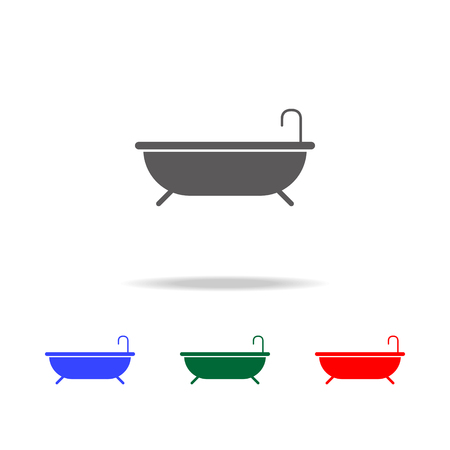 Tub icon. Elements in multi colored icons for mobile concept and web apps. Icons for website design and development, app development on white background