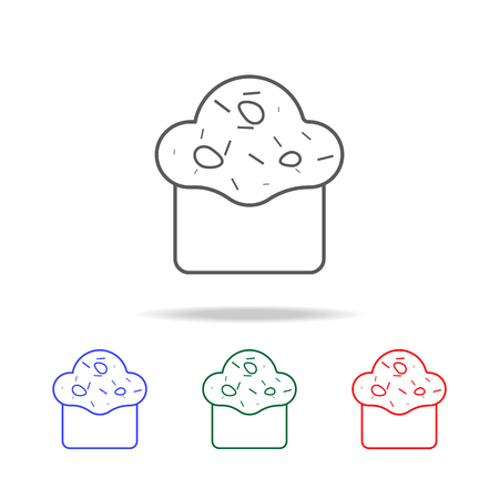 Cupcake icon. Elements in multi-colored icons for a mobile concept and web apps. Icons for website design and development, app development on white background Vectores