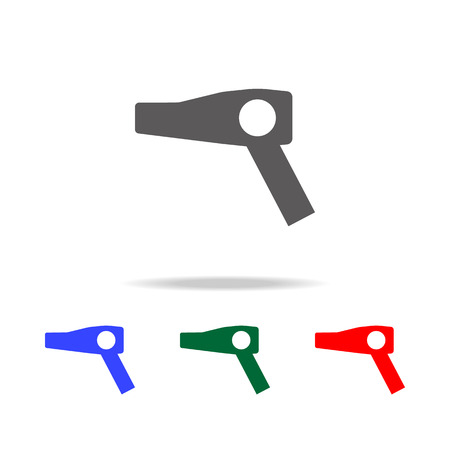 Hair dryer icon. Elements in multi-colored icons for a mobile concept and web apps. Icons for website design and development, app development on white background