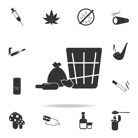 Shopping iconSet of Human weakness and Addiction element icon. Premium quality graphic design. Signs, outline symbols collection icon for websites, web design, mobile app on white background