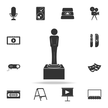 A cinematographic cup icon. Set of cinema element icons. Premium quality graphic design. Signs and symbols collection icon for websites, web design, mobile app on white background