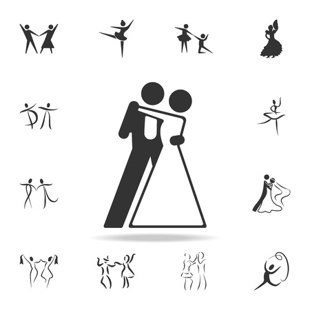 A ballroom dancing icon. Set of people in dance element icons. Premium quality graphic design. Signs and symbols collection icon for websites, web design, mobile app on white background