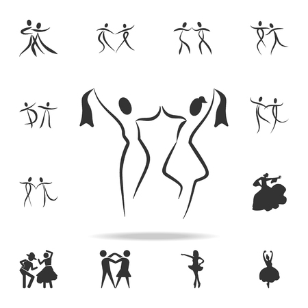 dancing couple icon. Set of people in dance  element icons. Premium quality graphic design. Signs and symbols collection icon for websites, web design, mobile app on white background
