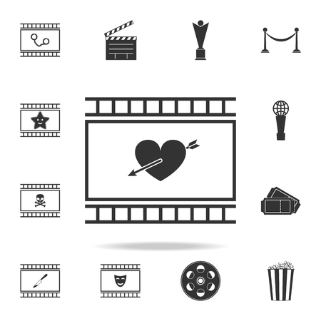 Set of cinema element icons. Premium quality graphic design. Signs and symbols collection icon for websites, web design, mobile app on white background