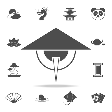 Chinese sage icon. Set of Chinese culture icons. Web Icons Premium quality graphic design. Signs and symbols collection, simple icons for websites, web design, mobile app on white background Illustration