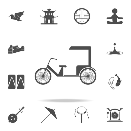 Chinese taxi icon. Set of Chinese culture icons. Web Icons Premium quality graphic design. Signs and symbols collection, simple icons for websites, web design, mobile app on white background