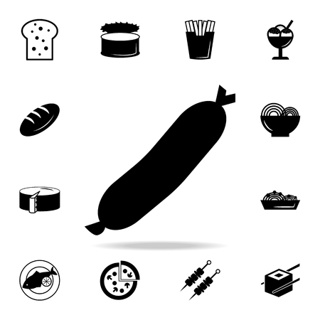 Sausage icon. Frankfurt eating sausage logo icon. Detailed set of food and drink icons. Premium quality graphic design. One of the collection icons for websites and mobile app on white background