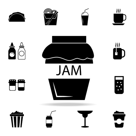 Jar icon. Detailed set of food and drink icons. Premium quality graphic design. One of the collection icons for websites, web design, mobile app on white background