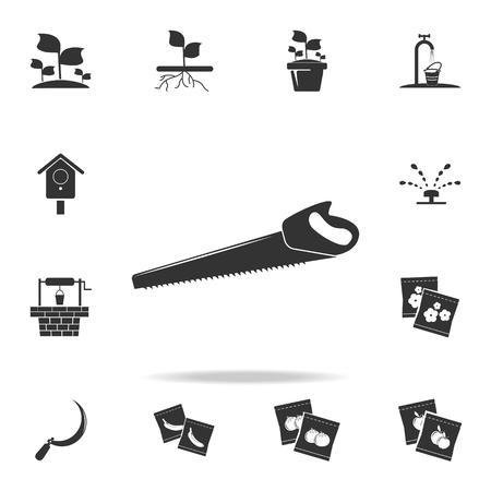 saw icon. Detailed set of garden tools and agriculture icons. Premium quality graphic design. One of the collection icons for websites, web design, mobile app on white background