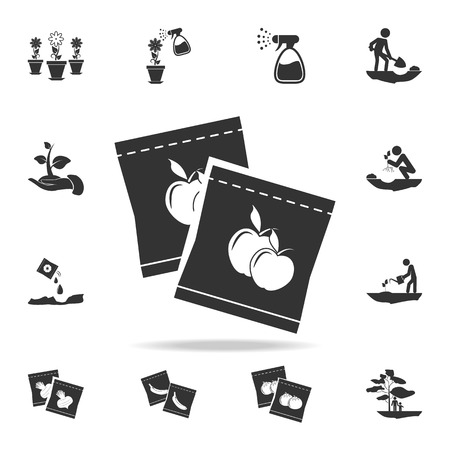 Fruit Seeds in Packaging icon. Detailed set of garden tools and agriculture icons. Premium quality graphic design. One of the collection icons for websites, web design, mobile app on white background