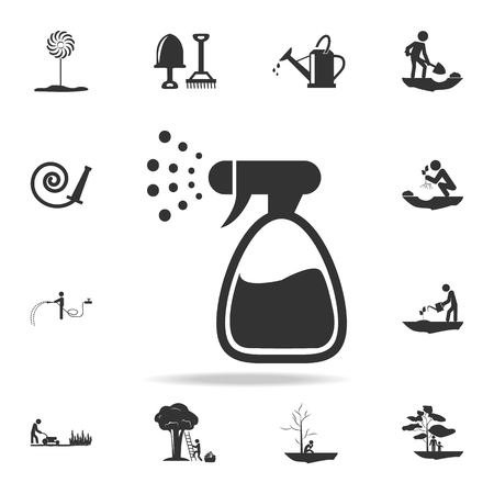 spray for water icon. Detailed set of garden tools and agriculture icons. Premium quality graphic design. One of the collection icons for websites, web design, mobile app on white background