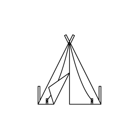 Tent icon vector illustration Ilustrace
