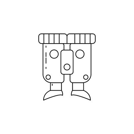 Binoculars icon vector illustration Illusztráció