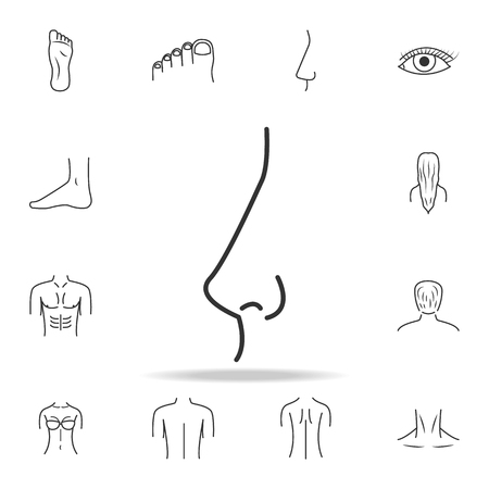 Nose icon with other elements vector illustration Illustration