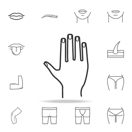 Hand icon with other elements vector illustration