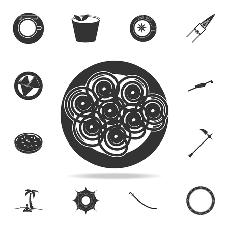jalebi icon. Detailed set of Indian Culture icons. Premium quality graphic design. One of the collection icons for websites, web design, mobile app on white background Illustration