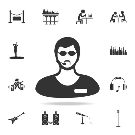 Night club security icon. Detailed set of night club and disco icons.
