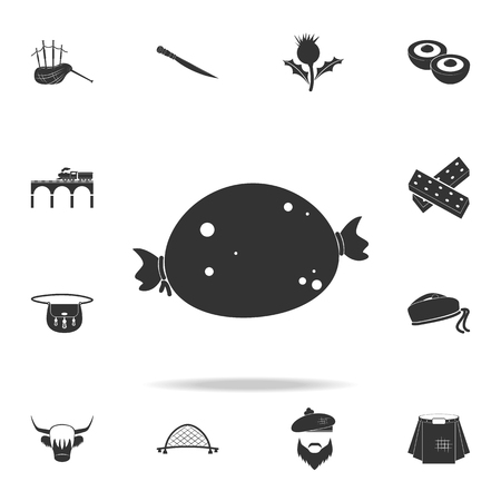 Bag icon. Detailed set of United Kingdom culture icons.