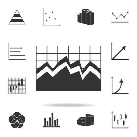 Area chart icon. Detailed set of Trend diagram and chart icons.