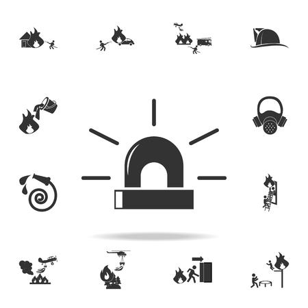 Fire alarm icon. Detailed set of Fireman icons. Premium quality graphic design. Illustration